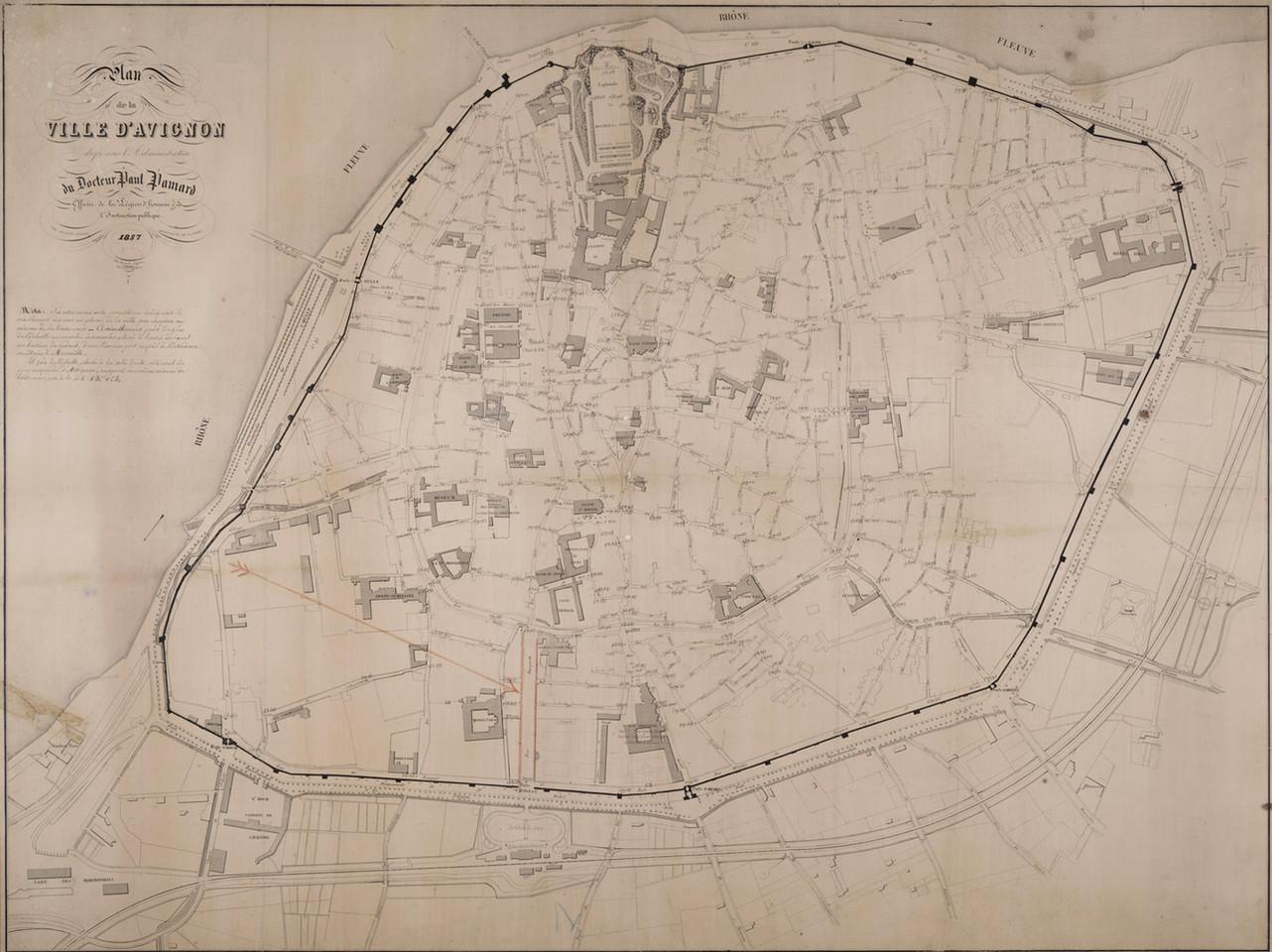 1857 – Plan dit « Paul Pamart »