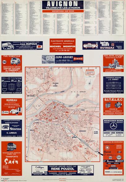 1973 – Plan guide publicitaire