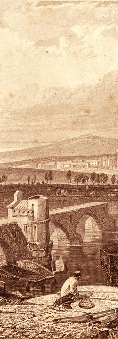 Le pont Saint-Bénezet, l'île de la Barthelasse et Villeneuve-lès-Avignon depuis le Rocher des Doms