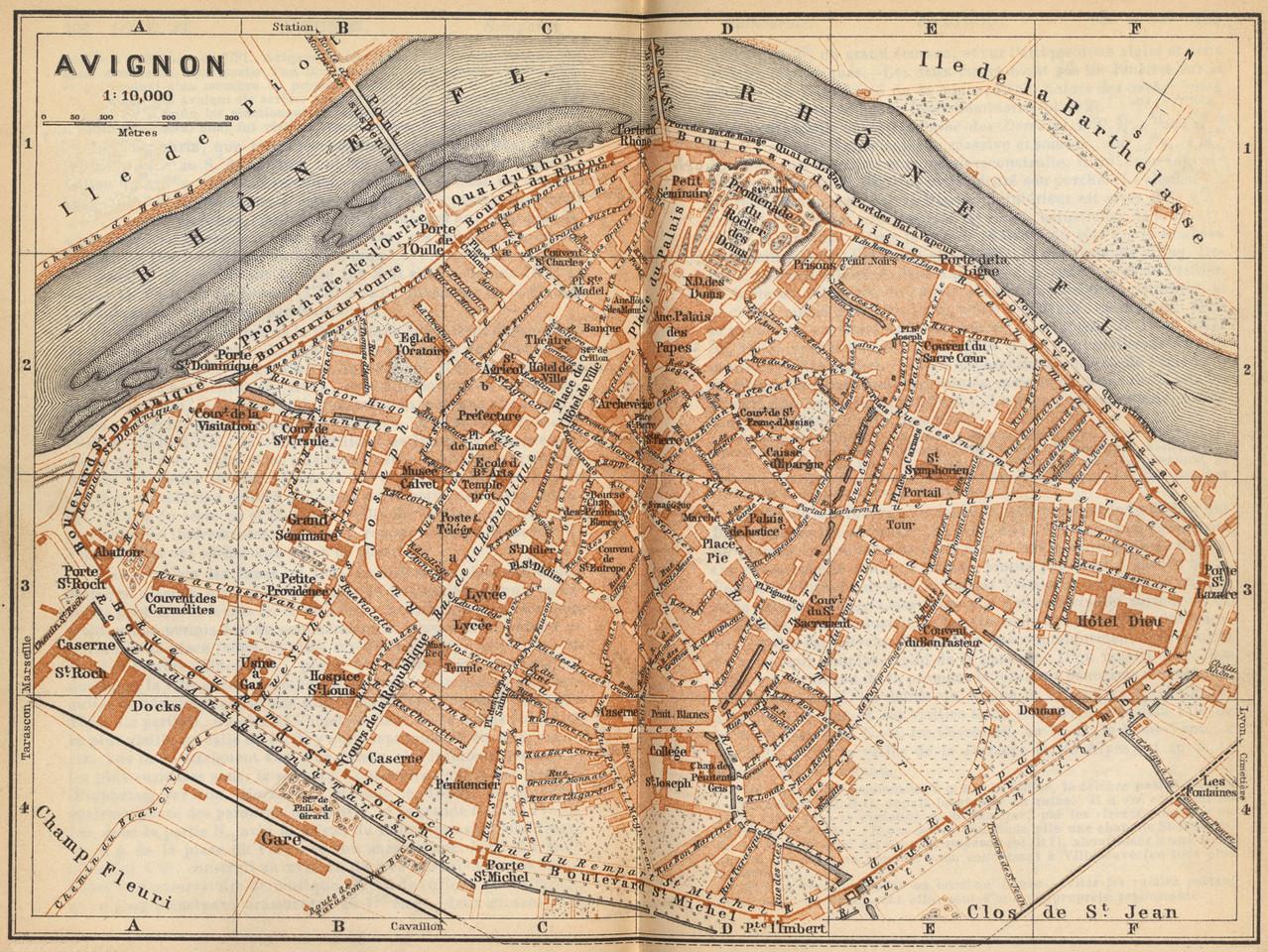1889 – Plan extrait de l'ouvrage Le Midi de la France