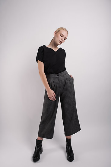kalhoty wool culottes midi