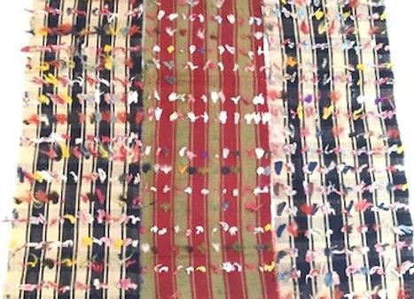 Tribal 3 panel tufted Kilim         Vintage Turkish