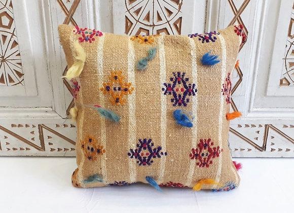 Vintage Kilim Pillow          Boho tassel x 4