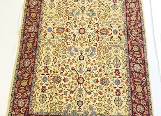 Hereke 'Seven Mountain Flower ' Carpet - signed and dated !