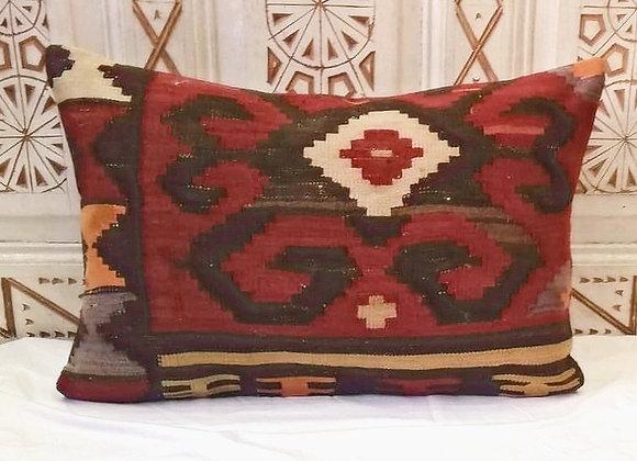 Vintage Turkish Boho Pillow         65 x 43 cm Bold Earth