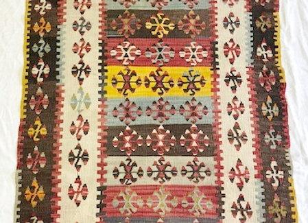 Vintage Sivas  Dowry Kilim - Fine weave + Rare design