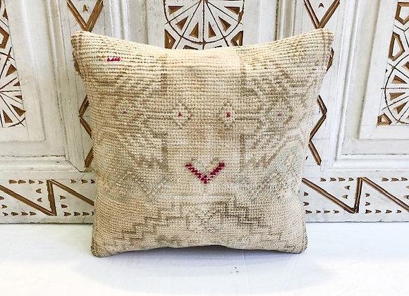 Vintage Turkish Boho Pillow               40x40cm - Vintage Beige