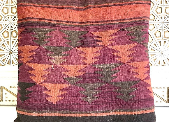 Vintage Kilim Pillow - Purple geometric 65x65cm
