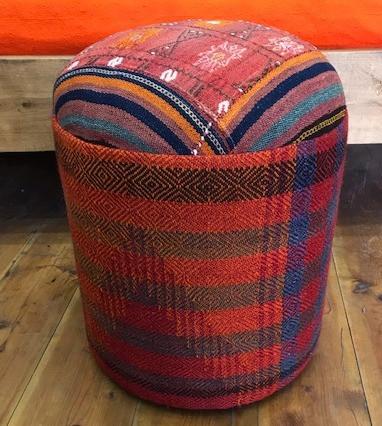 Vintage Kilim Pouf Magnificent Turkish Kilim Pouf