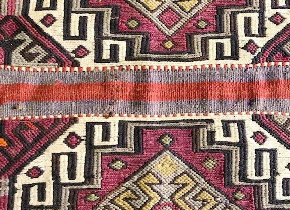Vintage Malatya Kurd  Kilim Cuval - Natural dyes + nomadic design