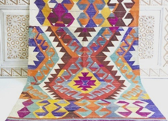 Vintage Boho Adana Kilim - Color Pop