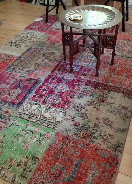 Patchwork Rug - distressed