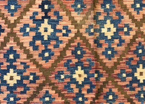 Vintage Tribal Kilim - Iran - Earth tones