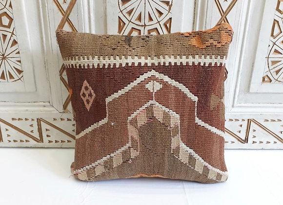 Vintage Kilim Pillow -40x40cm cinnamon storm