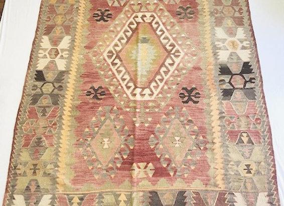 Vintage Turkish Kilim - Pastel Boho