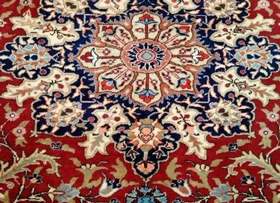 Vintage Kayseri Village Carpet - Red medallion