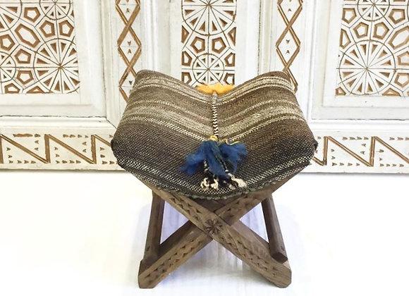 Turkish Teahouse Stool -                                   Natural + boho Tassel