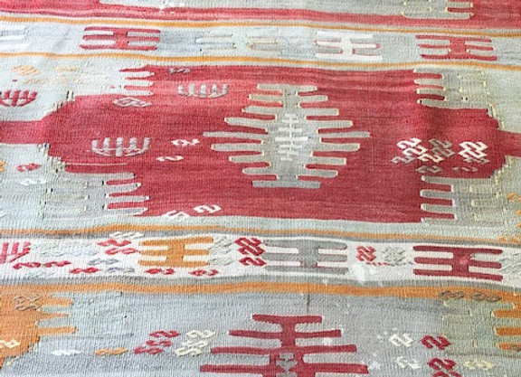 Vintage Sivas Dowry Kilim -Fine and subtle