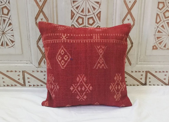 Vintage Kilim Pillow                                  40 x 40 cm 'Sienna Flower'