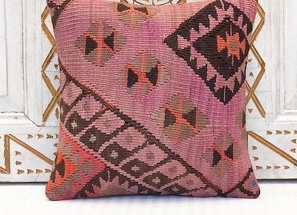 Vintage Kilim Pillow Cover - Nomad  Design 40cm x 40cm