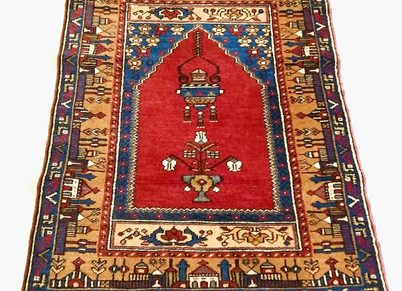 Turkish Yahyali Prayer Carpet - Cappadocia