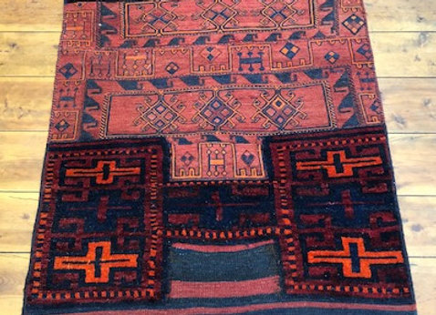 Vintage Bahtiyari Open Camel Bag - Iran