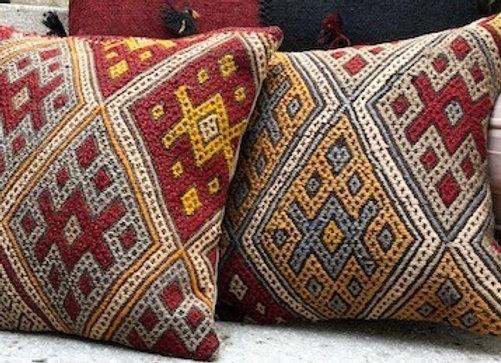 Vintage Kilim Pillow Cover - Nomad Diamond Design 40cm x 40cm