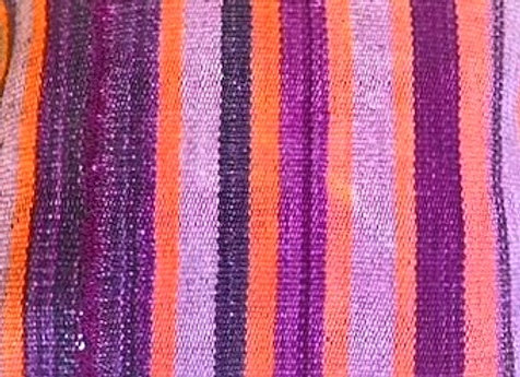 Vintage Turkish Pillow - Aubergine stripe