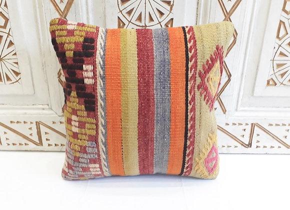 Vintage Kilim Pillow -Texture and stripe