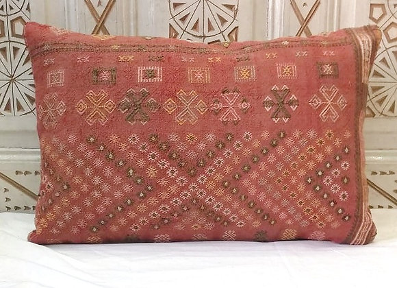 Vintage Kilim Pillow - Large 65 x 43    'Sienna blush'