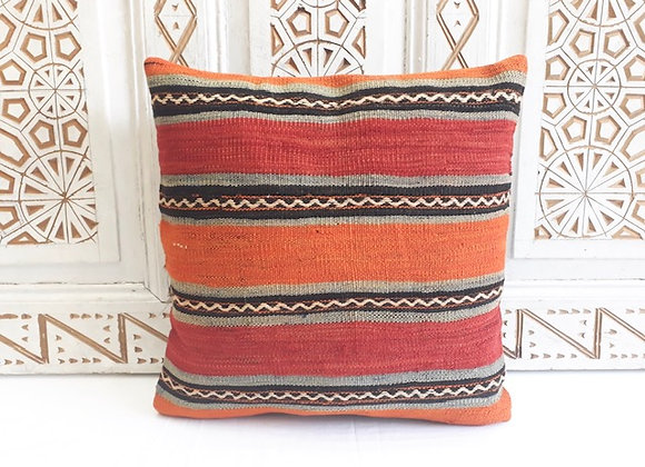 Vintage Turkish Boho Pillow         40x40cm Bold Sunset