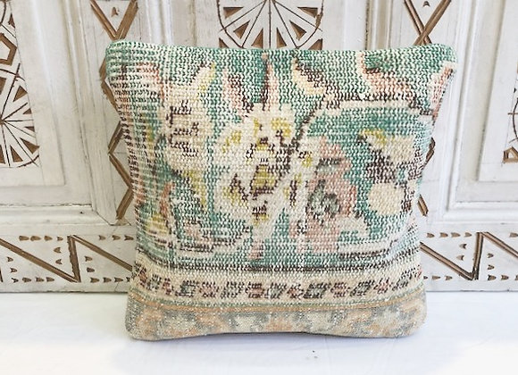 Vintage Turkish Boho Pillow              40x40cm- Vintage Turquoise