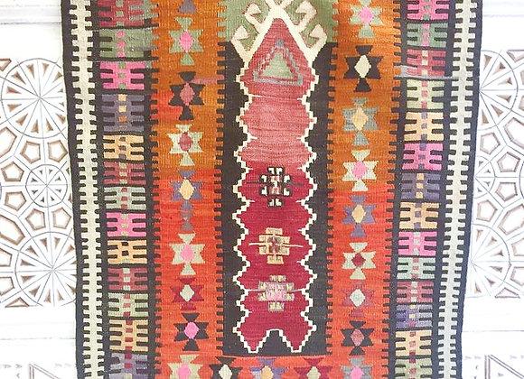 Vintage Konya Boho Kilim