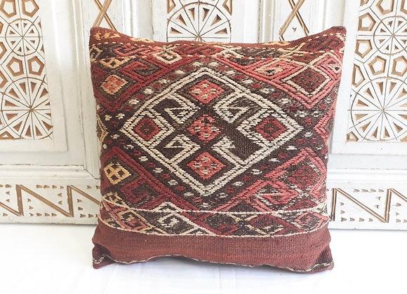 Vintage Kilim Pillow - Rustic medallion