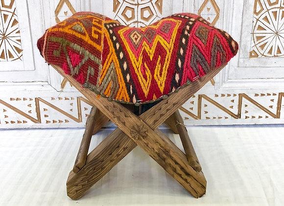 Handmade Turkish Teahouse Stool - Textured Tribal