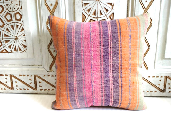 Vintage Kilim Pillow -Boho stripe