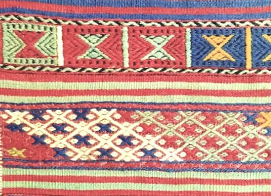 Vintage Tribal Cicim Kilim - Dated '1957'