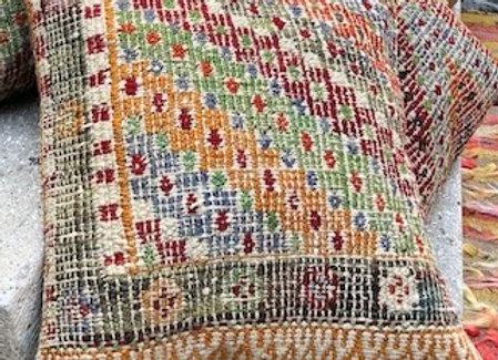 Soft Pastel Vintage Pillow - Textured Multicolor Design