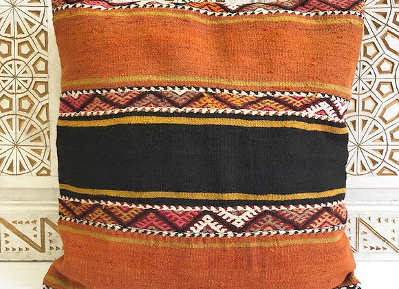 Vintage Kilim Pillow - Large 65x65cm - Bold Sunrise