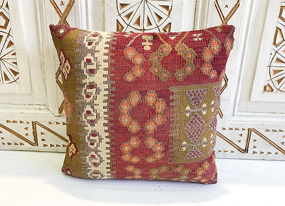 Vintage Turkish Boho Pillow         40x40cm Anatolia flower