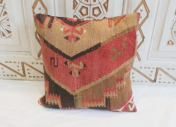 Vintage Kilim Pillow                                40x40cm        Cinnamon fire