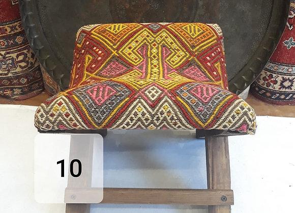 Handmade Turkish Teahouse Stool Boho Nomadic kilim