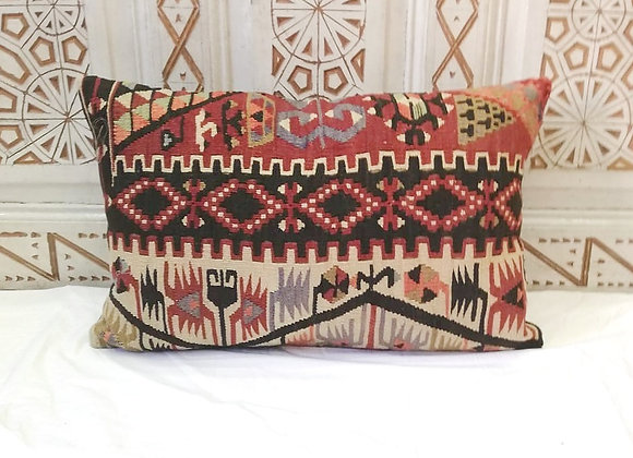 Vintage Kilim Pillow       Large 65x43cm  Anatolia Earth