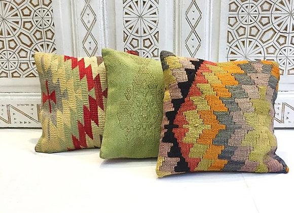 Pistachio ' overdye' Kilim Pillow 2