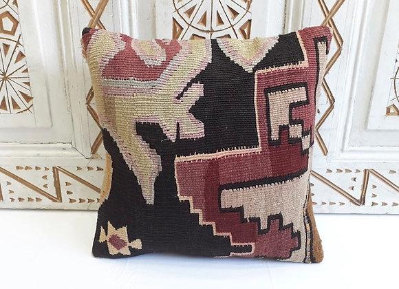 Vintage Kilim Pillow -40x40cm -  Dusky Storm