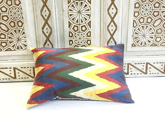 Handwoven IKAT Pillow                                              Silk & Cotton