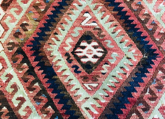 Vintage Fethiye Tribal Kilim - Unique color !