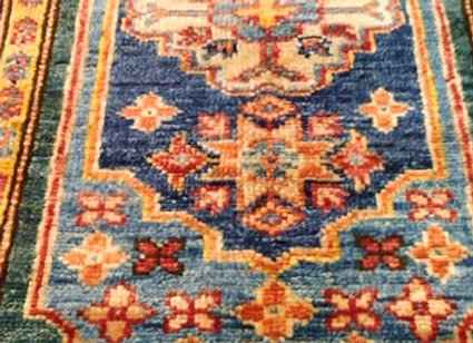 Contemporary Shirvan design Carpet - Blues & Green