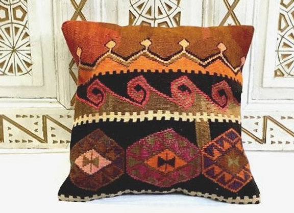 Vintage Turkish Boho Pillow                                        50 x 50 cm