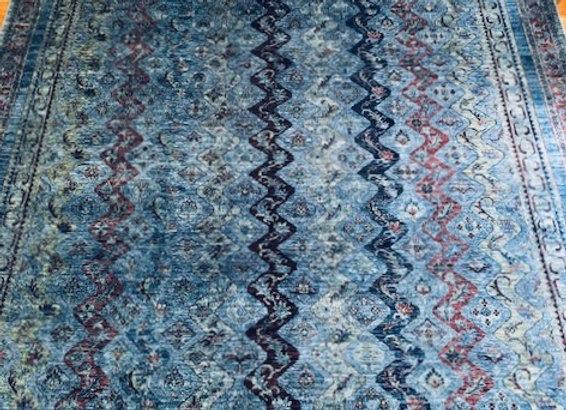 Contemporary 'Overdye' Handmade Rug